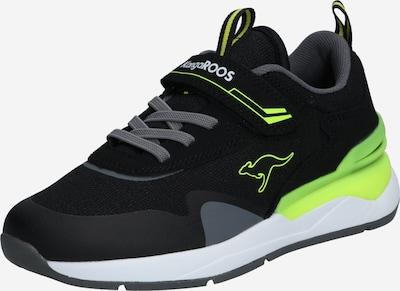 KangaROOS Sneakers in de kleur Grijs / Neongroen / Zwart, Productweergave
