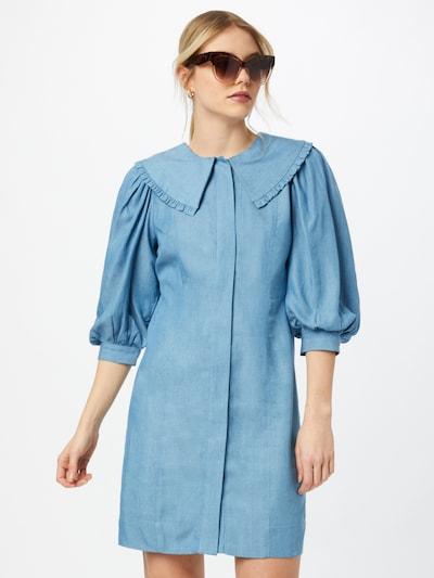 JUST FEMALE Jurk 'Texas' in de kleur Lichtblauw, Modelweergave