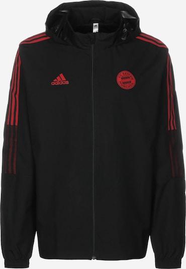ADIDAS PERFORMANCE Veste de sport 'FC Bayern München All Weather' en rouge / noir, Vue avec produit