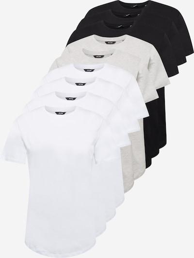 Only & Sons Paita värissä meleerattu harmaa / musta / valkoinen, Tuotenäkymä