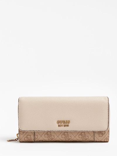 GUESS Portemonnaie 'Naya' in beige / hellbraun / puder, Produktansicht