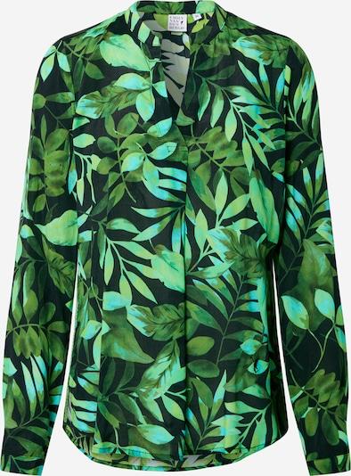 Emily Van Den Bergh Блуза в зелено / нефритено зелено / черно, Преглед на продукта