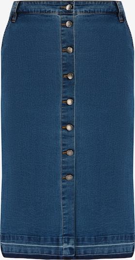 Finn Flare Rock mit der Knopfleiste  auf der Front in blau, Produktansicht