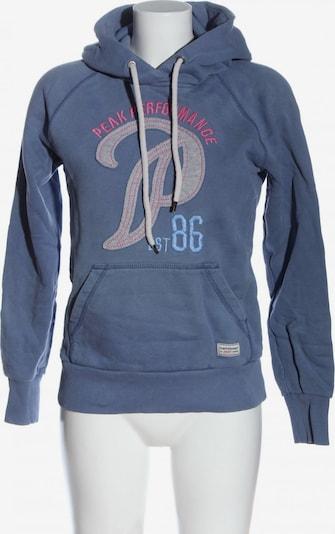 PEAK PERFORMANCE Kapuzensweatshirt in S in blau / hellgrau / pink, Produktansicht