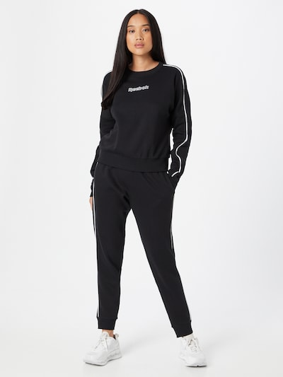 Reebok Sport Tracksuit in Black / White: Frontal view