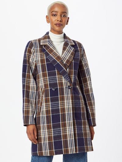 ICHI Prijelazni kaput 'Jannet' u plava / smeđa / bijela, Prikaz modela