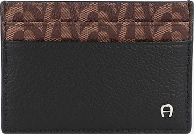 AIGNER Kreditkartenetui in braun / schwarz, Produktansicht