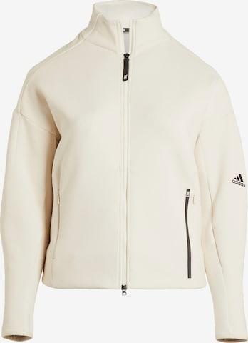 ADIDAS PERFORMANCE Athletic Jacket in White