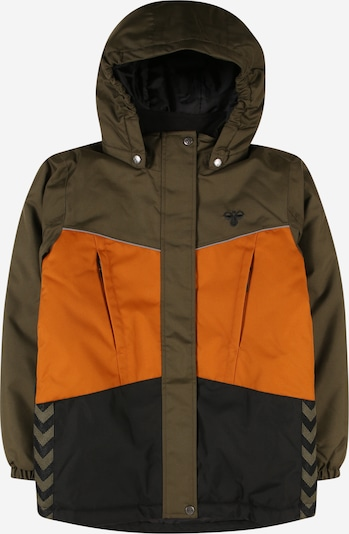 Hummel Jacke 'Conrad' in anthrazit / oliv / orange: Frontalansicht