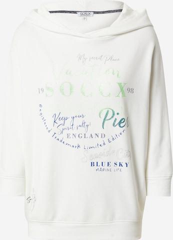 Sweat-shirt Soccx en blanc