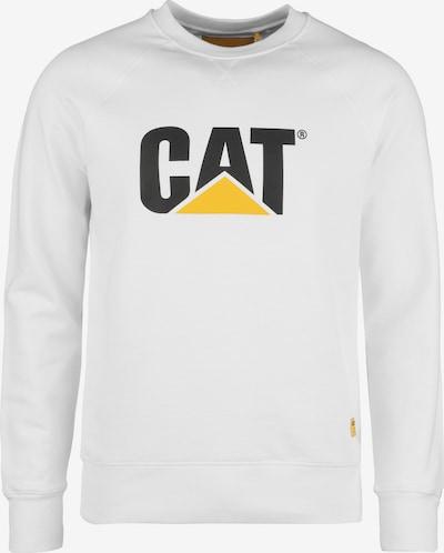 CATERPILLAR Sweatshirt in gelb / schwarz / weiß, Produktansicht