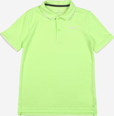 NIKE Functioneel shirt in de kleur Kiwi / Wit, Productweergave