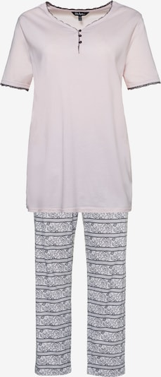 Ulla Popken Pyjama in flieder / weiß, Produktansicht