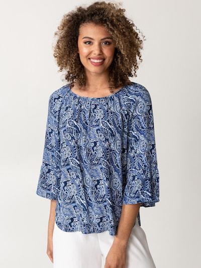 Indiska Bluse 'DOLLIE' in dunkelblau / weiß, Modelansicht