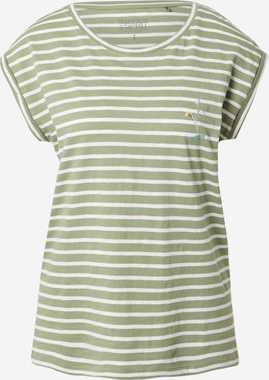 ESPRIT Camiseta en oliva / blanco, Vista del producto