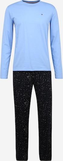 Tommy Hilfiger Underwear Duga pidžama u svijetloplava / tamno plava / bijela, Pregled proizvoda