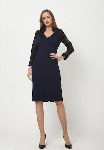 Madam-T Sheath Dress 'MARGARET' in Blue