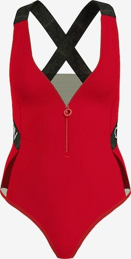 Calvin Klein Swimwear Badeanzug in rot / schwarz, Produktansicht