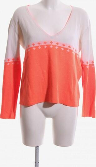MADS NORGAARD COPENHAGEN V-Ausschnitt-Pullover in S in hellorange / weiß, Produktansicht