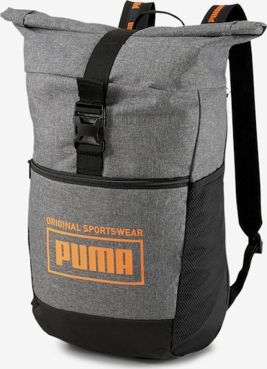 PUMA Sportrugzak in de kleur Grijs / Neonoranje / Zwart, Productweergave