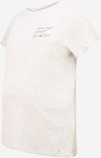 MAMALICIOUS T-shirt 'Kiky June' en crème / gris, Vue avec produit