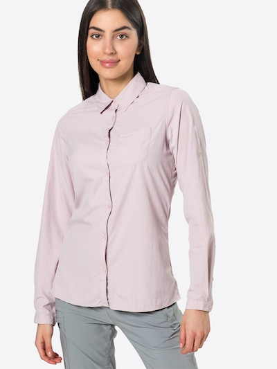 CRAGHOPPERS Multifunctionele blouse 'NosiLife Bardo' in de kleur Pastellila / Wit, Modelweergave