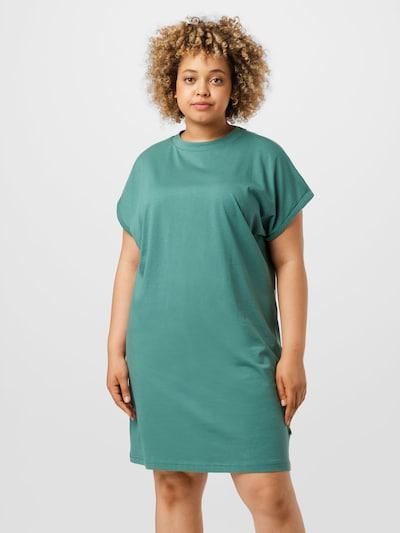 Rochie Urban Classics Curvy pe verde smarald, Vizualizare model