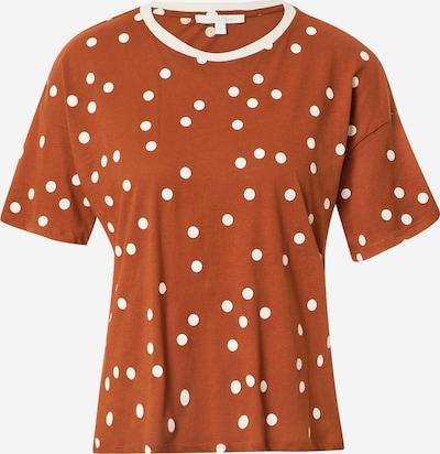 TOM TAILOR DENIM T-Shirt in karamell / weiß, Produktansicht