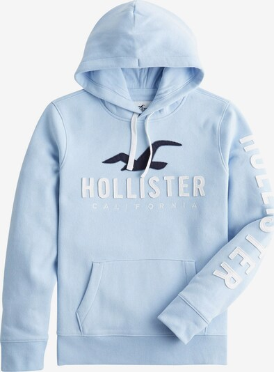 HOLLISTER Sweat-shirt en bleu marine / bleu clair / blanc, Vue avec produit