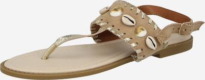 Hailys Zehentrenner 'Shelly' in hellbeige / gold, Produktansicht