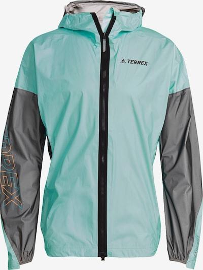 adidas Terrex Sportjacke 'Agravic Pro Trail' in grau / mint / orange, Produktansicht