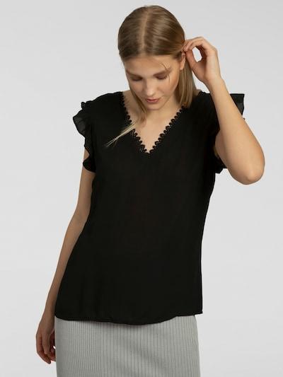 APART Bluse mit tiefem Rückenausschnitt in schwarz, Modelansicht