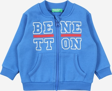 UNITED COLORS OF BENETTON Sweat jacket in Blue
