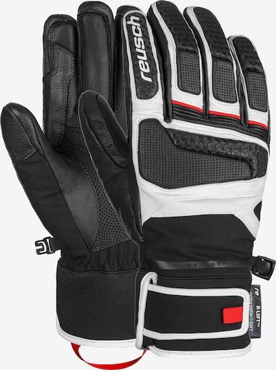 REUSCH Fingerhandschuhe 'Profi SL' in feuerrot / schwarz / weiß, Produktansicht