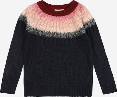 NAME IT Pullover 'Nana' in dunkelblau / graumeliert / pastellpink / hellpink / karminrot, Produktansicht