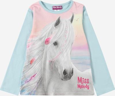 Miss Melody T-Shirt en bleu clair / gris / rose clair / blanc, Vue avec produit