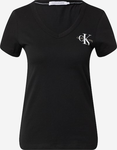 Tricou Calvin Klein Jeans pe oliv / negru / alb, Vizualizare produs