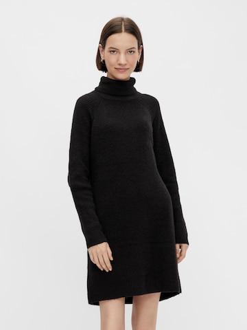 PIECES Gebreide jurk 'Ellen' in Zwart