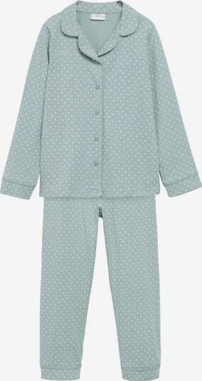 MANGO KIDS Pyjama in blau / mint / weiß, Produktansicht