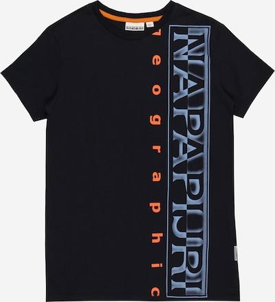 NAPAPIJRI Majica 'K SADYR' u morsko plava / sivkasto plava / tamno narančasta, Pregled proizvoda