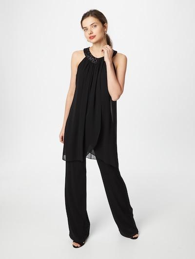Tuta jumpsuit Vera Mont di colore nero, Visualizzazione modelli