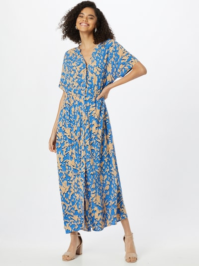 COMMA Рокля тип риза в синьо / кафяво / черно, Преглед на модела
