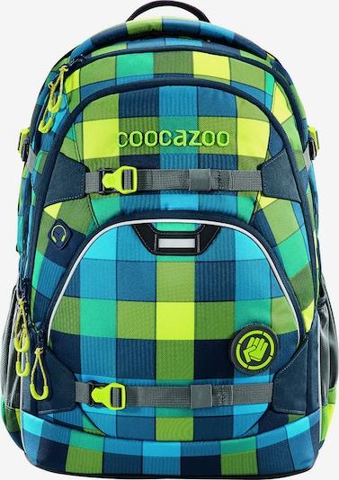 Coocazoo Schulrucksack in blau / gelb / grün, Produktansicht