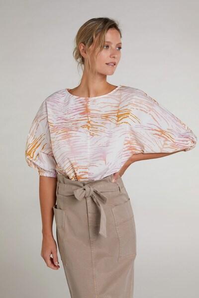 OUI Bluse in orange / rosa / weiß, Modelansicht