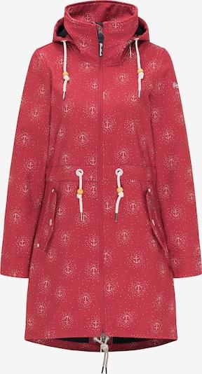 Schmuddelwedda Manteau fonctionnel en rouge pastel / blanc, Vue avec produit
