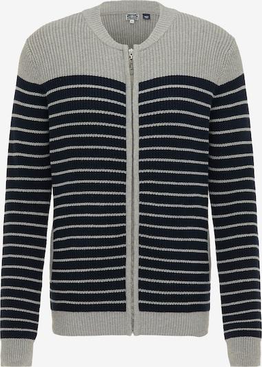 DreiMaster Maritim Strickjacke in grau / schwarz, Produktansicht