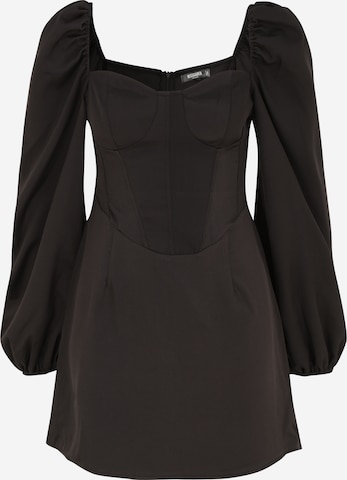 Missguided Petite Dress 'Milkmaid Skater' in Black