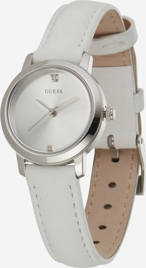 GUESS Uhr 'MINI NOVA' in silber / weiß, Produktansicht