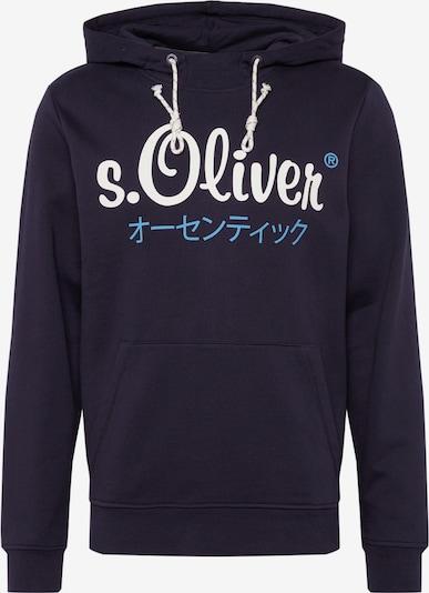 s.Oliver Sweatshirt in dunkelblau / weiß, Produktansicht