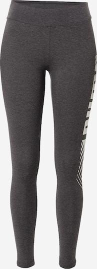 PUMA Sporthose in dunkelgrau / weiß, Produktansicht